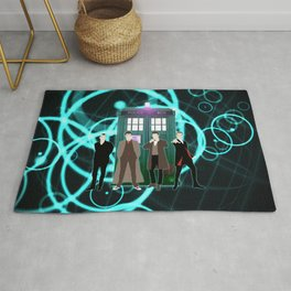 The Doctors And Tardis Rug