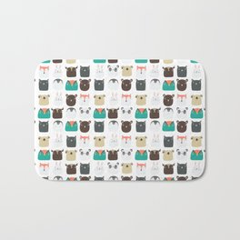 Cute Animals Bath Mat