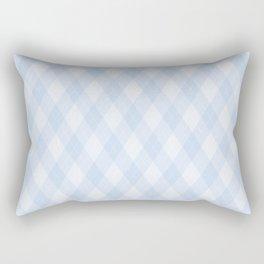 Argyle Fabric Pattern - Pastel Baby Blue Rectangular Pillow