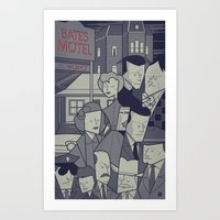 psycho Art Prints featuring Psycho by Ale Giorgini