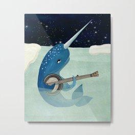 Narwhal's Aquarelle - Narwhal Plays Banjo Metal Print