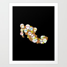 Day of the dead, Mexico Art Print