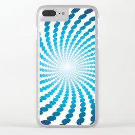 BLUE DOTS ON A WHITE BACKGROUNDAbstract Art Clear iPhone Case
