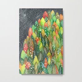 little forest . first snow Metal Print