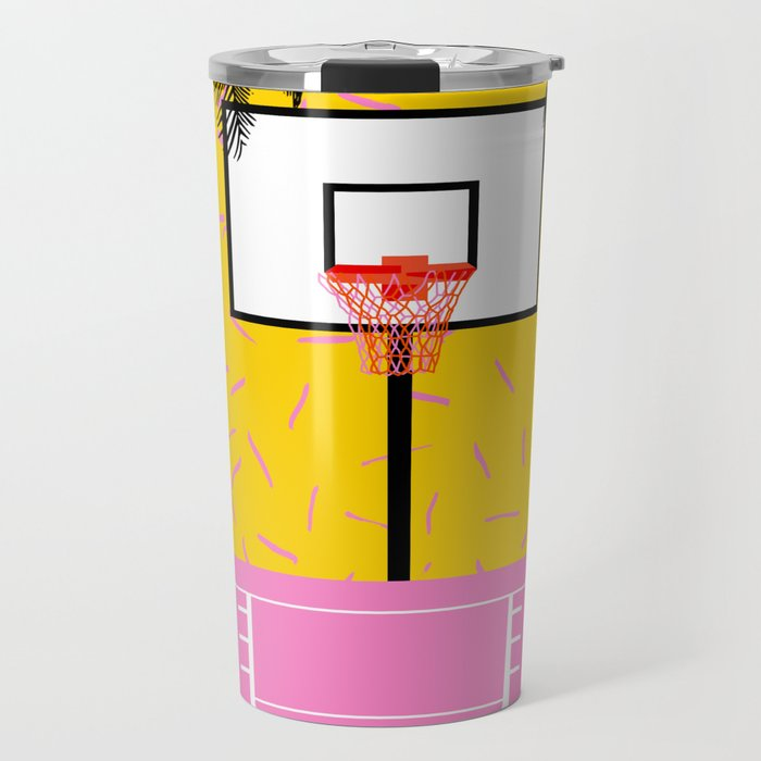 Dope - memphis retro vibes basketball sports athlete 80s throwback vintage style 1980's Travel Mug