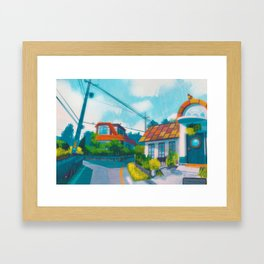 Red's house - Kanto in real life Framed Art Print