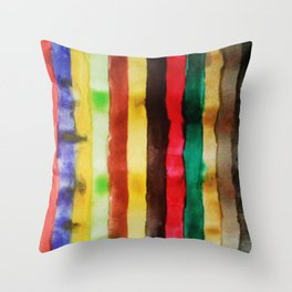 Watercolor Lines Throw Pillow