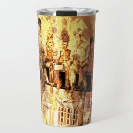 men at lunch Travel Mug