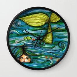 Camouflaged Mermaid  Wall Clock
