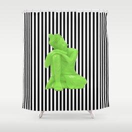 My  inner Green Buddha | Namaste Pop Art Buddha Shower Curtain