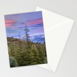 "Lenticular clouds over the mountains ""Mountain light"". Stationery Cards"