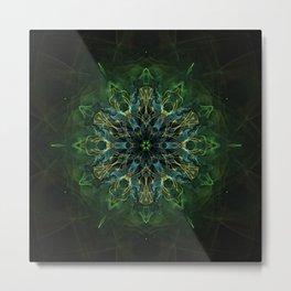 Soul Nebula Mandala Metal Print
