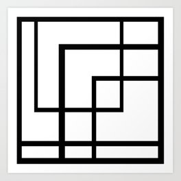 Count the Rectangles Art Print