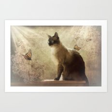 Cat Magic Art Print