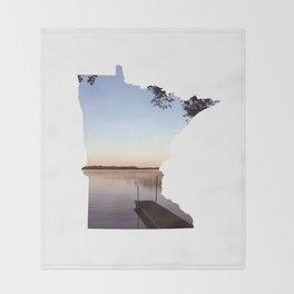 Lake Minnesota Throw Blanket