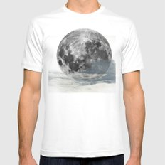 Low Moon MEDIUM White Mens Fitted Tee