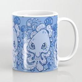 Happy Octopus Squid Kraken Cthulhu Sea Creature - Baby Blue Coffee Mug