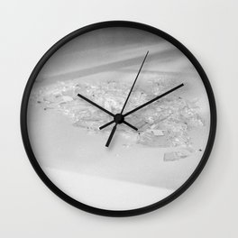 Shards through glass Wall Clock