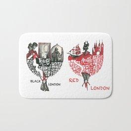 Red & Black London Bath Mat