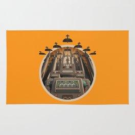 Robots Unite! crest variant Rug