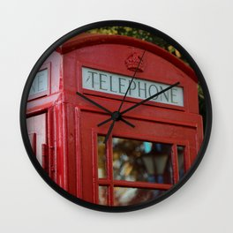 British Telephone Kiosk Wall Clock