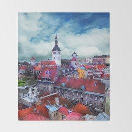 Tallinn art 3 #tallinn #city Throw Blanket