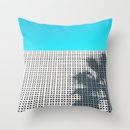 Parker Palm Springs with Palm Tree Shadow Throw Pillow