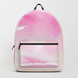 Pink Watercolor Wash Backpack