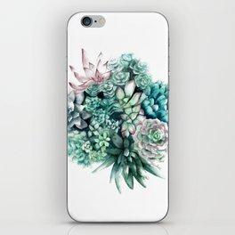 Cactus circle iPhone Skin