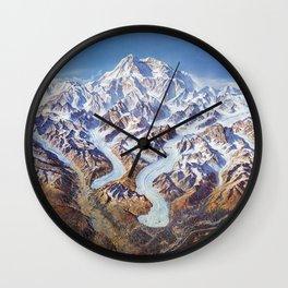 Vintage Denali National Park Relief Map Wall Clock
