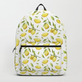 Lemon pattern Backpack