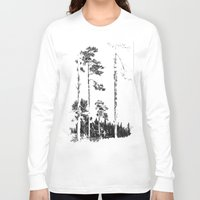 birch Long Sleeve T-shirts featuring Birch  by Kelly Baskin