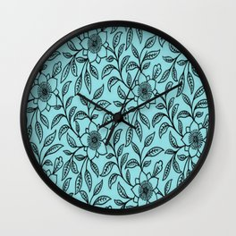 Vintage Lace Floral Island Paradise Wall Clock
