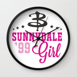 Sunnydale Girl Wall Clock