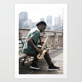 Saxophone player Art Print