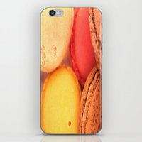 macaroons iPhone & iPod Skins featuring Macaroons by alexarayy
