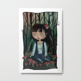 alone in the forest Metal Print