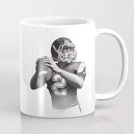 Quarterback setting up for a pass down field. Coffee Mug