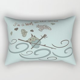 Leaf on the Wind Rectangular Pillow