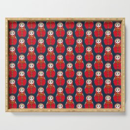 Russian doll pattern Serving Tray
