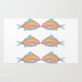 fish little kissing Rug