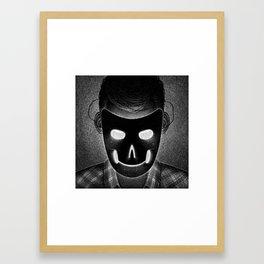 Drawlloween 2014: Mask Framed Art Print