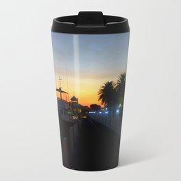 Night falls at Lakes Entrance Travel Mug