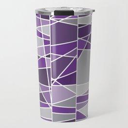 Purple and grey Travel Mug