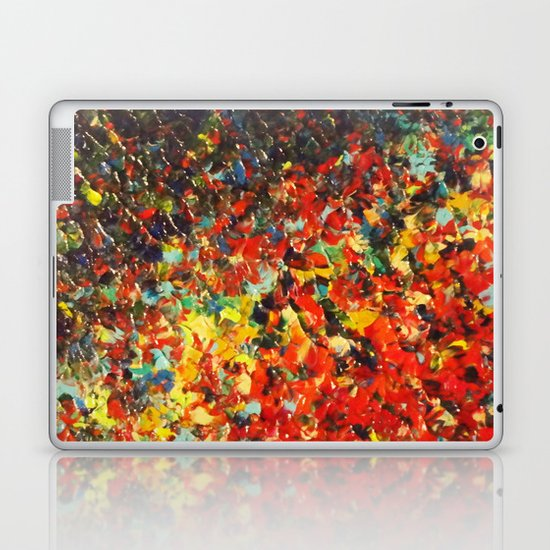 END OF THE RAINBOW - Bold Multicolor Abstract Colorful Nature Inspired Sunrise Sunset Ocean Theme Laptop & iPad Skin