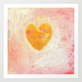 LOVE AND PEACE 2 Art Print