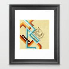 Retro Meaning Framed Art Print