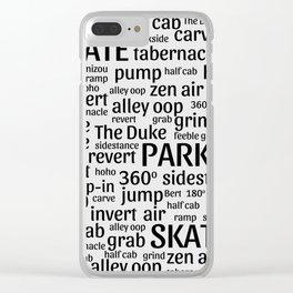 Skate Park Love Clear iPhone Case