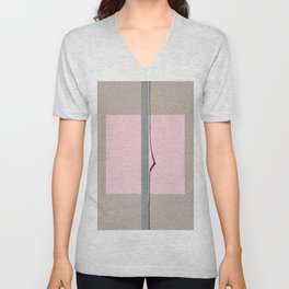 'In the Pink'  Abstract acrylic on canvas Unisex V-Neck