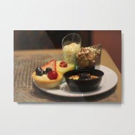 Desserts Metal Print